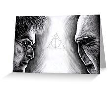 Harry vs Voldemort Greeting Card