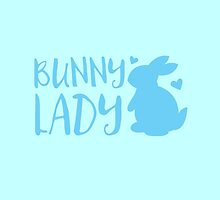 Bunny Lady cute in Blue by jazzydevil