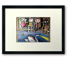 MOM AND POP VISIT THE ANGEL OF DEATH Framed Print