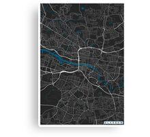 Glasgow city map black colour Canvas Print