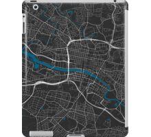 Glasgow city map black colour iPad Case/Skin