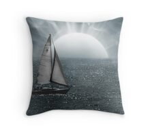 Sailing In Unknown Waters Throw Pillow