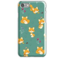 Kawaii Fox pattern iPhone Case/Skin