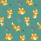 Kawaii Fox pattern by Macy Wong