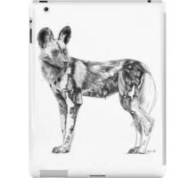 African Wild Dog Sketch iPad Case/Skin