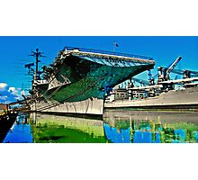 USS Hornet Psychedelic Photographic Print