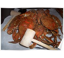 Hot Steamed Crabs Poster
