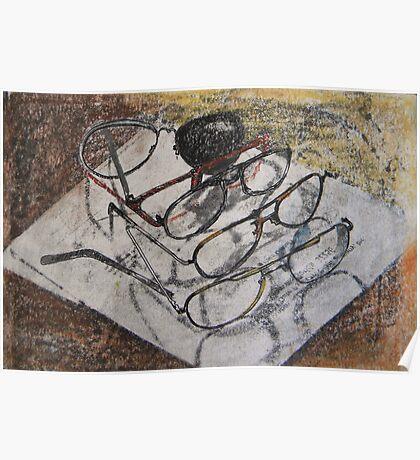 broken glasses - still life for  office Poster