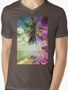 Prismatic Palm Mens V-Neck T-Shirt