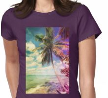 Prismatic Palm Womens Fitted T-Shirt
