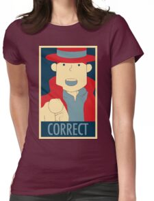 Correct, The Pointing Finger Womens Fitted T-Shirt