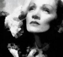 Marlene Dietrich by John Springfield Sticker