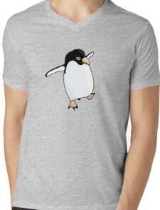 Penguin Learning to Fly Mens V-Neck T-Shirt