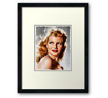 Rita Hayworth by John Springfield Framed Print