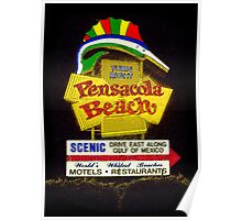 Pensacola Beach Sign Poster