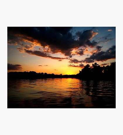 Golden Sunset on the Fox River Photographic Print