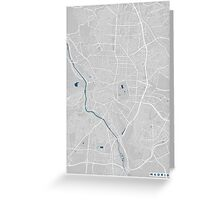 Madrid city map grey colour Greeting Card