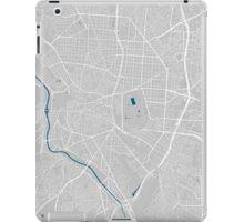 Madrid city map grey colour iPad Case/Skin