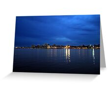 Evening at Home Greeting Card