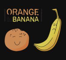 Orange is the new Banana One Piece - Short Sleeve