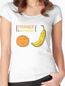 Orange is the new Banana Women's Fitted Scoop T-Shirt