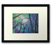 Blue trees - landscape - natural world - blue fantasy Framed Print