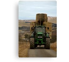Could He Fit Any More On? Canvas Print