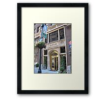 The Library Hotel on Library Way Framed Print