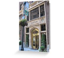 The Library Hotel on Library Way Greeting Card