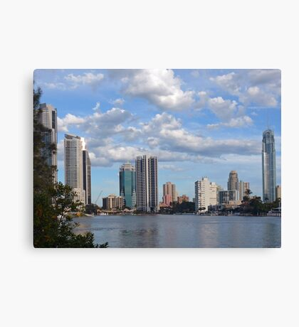 Racing clouds, Broadbeach, Gold Coast, Australia Canvas Print