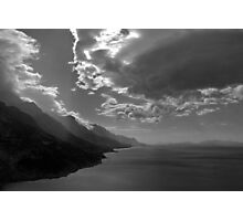 Dark clouds  on the Dalmation coast Photographic Print