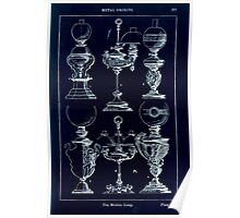 A Handbook Of Ornament With Three Hundred Plates Franz Sales Meyer 1896 0393 Metal Objects Modern Lamp Inverted Poster
