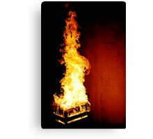 Dragon In Flames Canvas Print