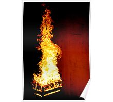 Dragon In Flames Poster