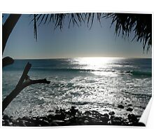 The winter morning in Burleigh Heads, Gold Coast, Australia Poster
