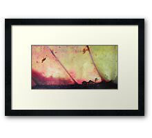 Small house - big hurricane - natural world Framed Print