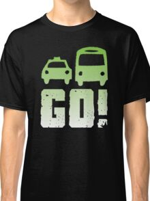GREEN car taxi bus GO! Classic T-Shirt