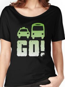 GREEN car taxi bus GO! Women's Relaxed Fit T-Shirt