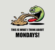 This Is What I Think About Mondays! (Emoticon Smiley Meme) Unisex T-Shirt