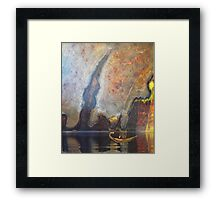 Quiet waters - city landscape-natural world Framed Print