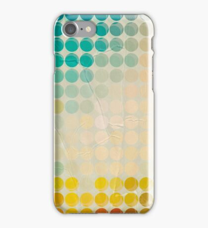 Abstract circles background with grunge paper iPhone Case/Skin