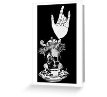 The Incredible, Teapot riding, Three-eyed winged Hulkskull Greeting Card