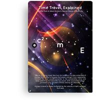 Time Travel, Explained Canvas Print