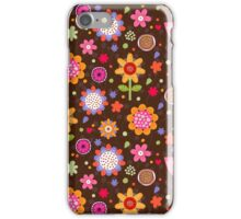 Floral colourful seamless pattern iPhone Case/Skin