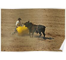 The Playful Bull, Rodeo in Montana Photo Poster
