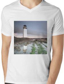 Southerness Lighthouse at Sunset Mens V-Neck T-Shirt