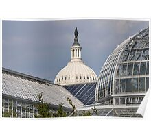 United States Botanical Gardens and the U.S. Capital Poster