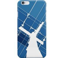 Blue Wires Overhead  iPhone Case/Skin