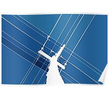 Blue Wires Overhead  Poster