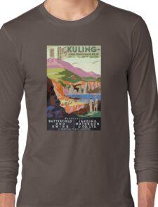 Kuling China Vintage Travel Poster Restored Long Sleeve T-Shirt